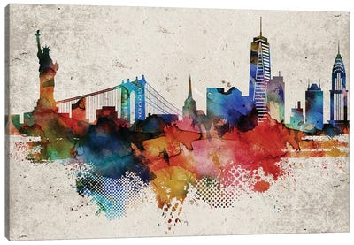 New York Abstract Canvas Art Print