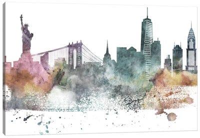 New York Pastel Skylines Canvas Art Print