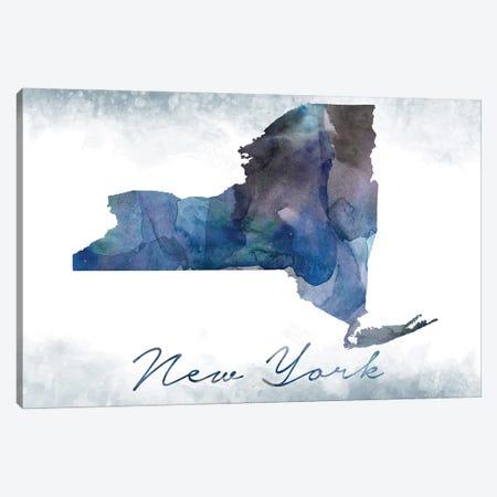 New York State Bluish Canvas Print #WDA334} by WallDecorAddict Canvas Wall Art