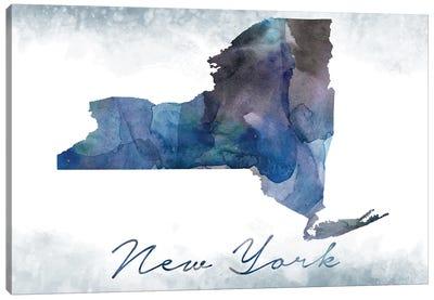 New York State Bluish Canvas Art Print