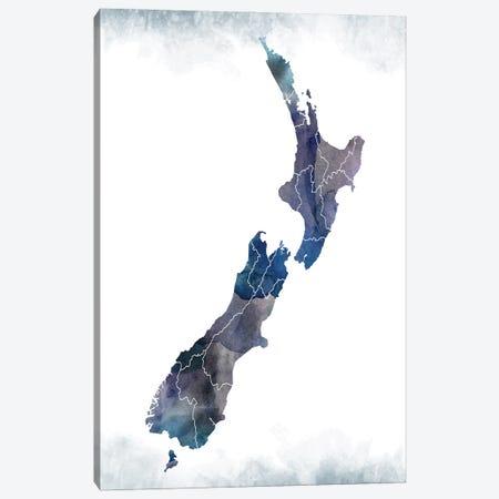 New Zealand Bluishmap Canvas Print #WDA337} by WallDecorAddict Canvas Artwork