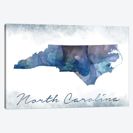 North Carolina State Bluish Canvas Print #WDA340} by WallDecorAddict Canvas Artwork