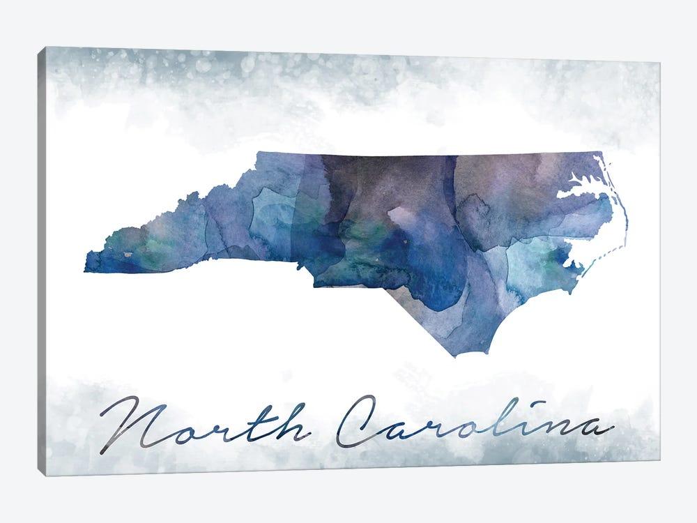 North Carolina State Bluish by WallDecorAddict 1-piece Canvas Art Print