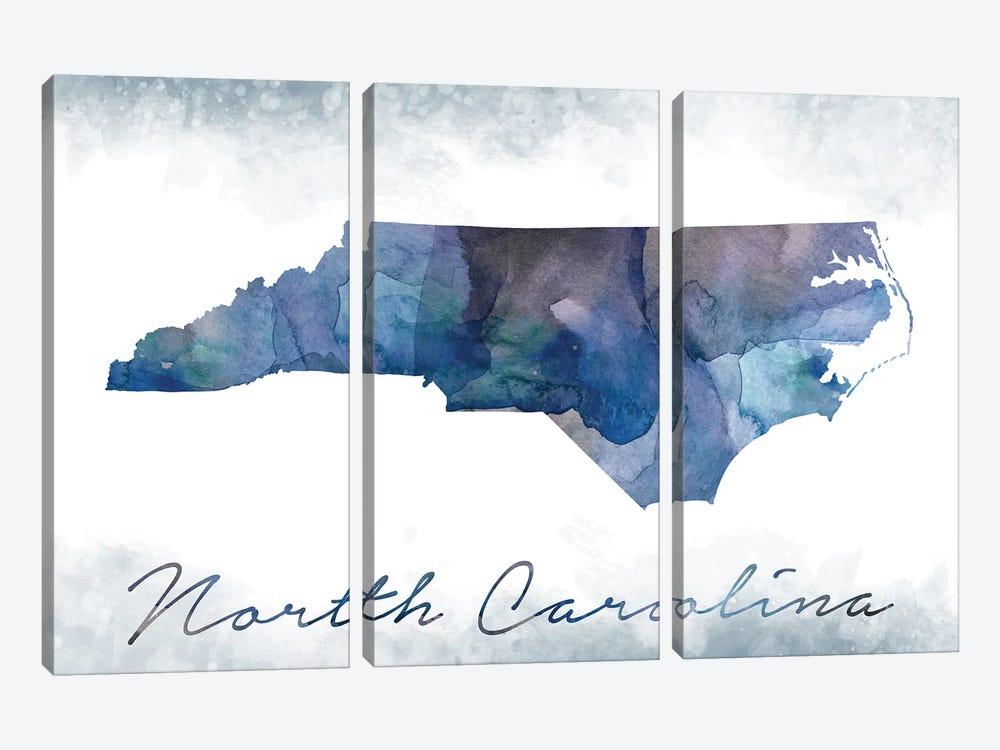 North Carolina State Bluish by WallDecorAddict 3-piece Art Print