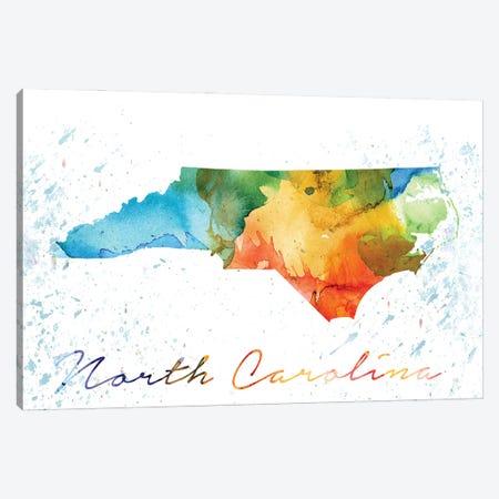 North Carolina State Gcolorful Canvas Print #WDA341} by WallDecorAddict Canvas Artwork