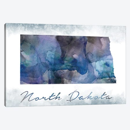 North Dakota State Bluish Canvas Print #WDA346} by WallDecorAddict Canvas Print