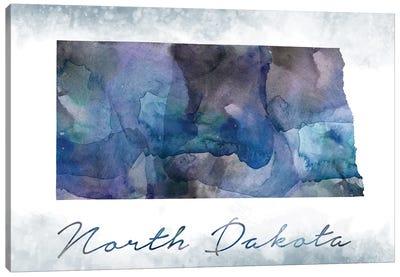 North Dakota State Bluish Canvas Art Print