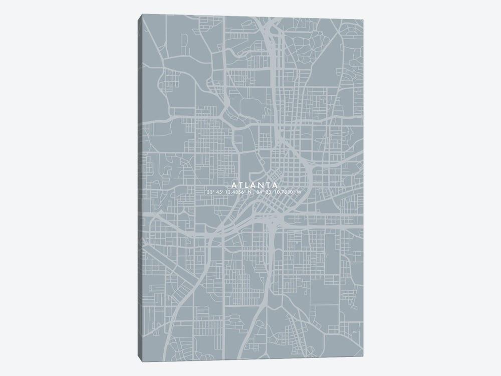 Atlanta City Map Simple Color by WallDecorAddict 1-piece Canvas Artwork