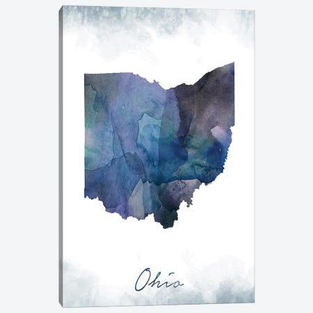 Ohio State Bluish Canvas Print #WDA351} by WallDecorAddict Canvas Art Print
