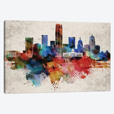 Oklahoma Abstract Canvas Print #WDA355} by WallDecorAddict Canvas Artwork