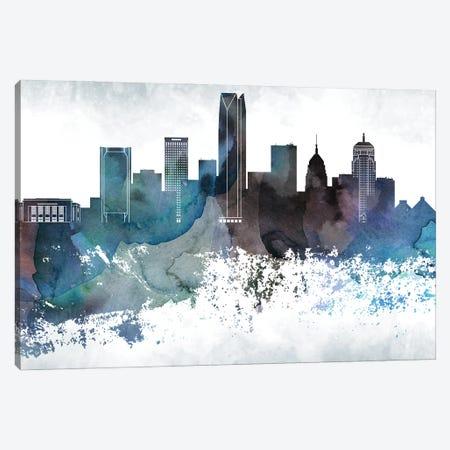 Oklahoma Bluish Skylines Canvas Print #WDA358} by WallDecorAddict Canvas Art Print