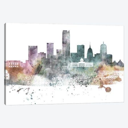 Oklahoma Pastel Skylines Canvas Print #WDA359} by WallDecorAddict Canvas Print