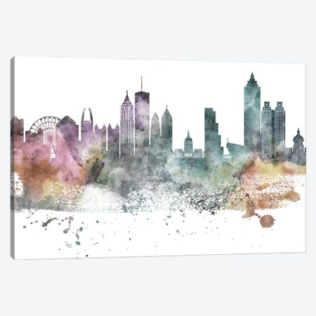 Atlanta Pastel Skylines Canvas Print #WDA35} by WallDecorAddict Canvas Art Print