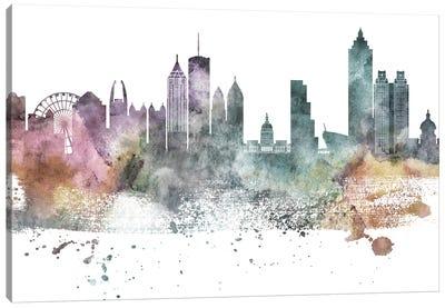 Atlanta Pastel Skylines Canvas Art Print