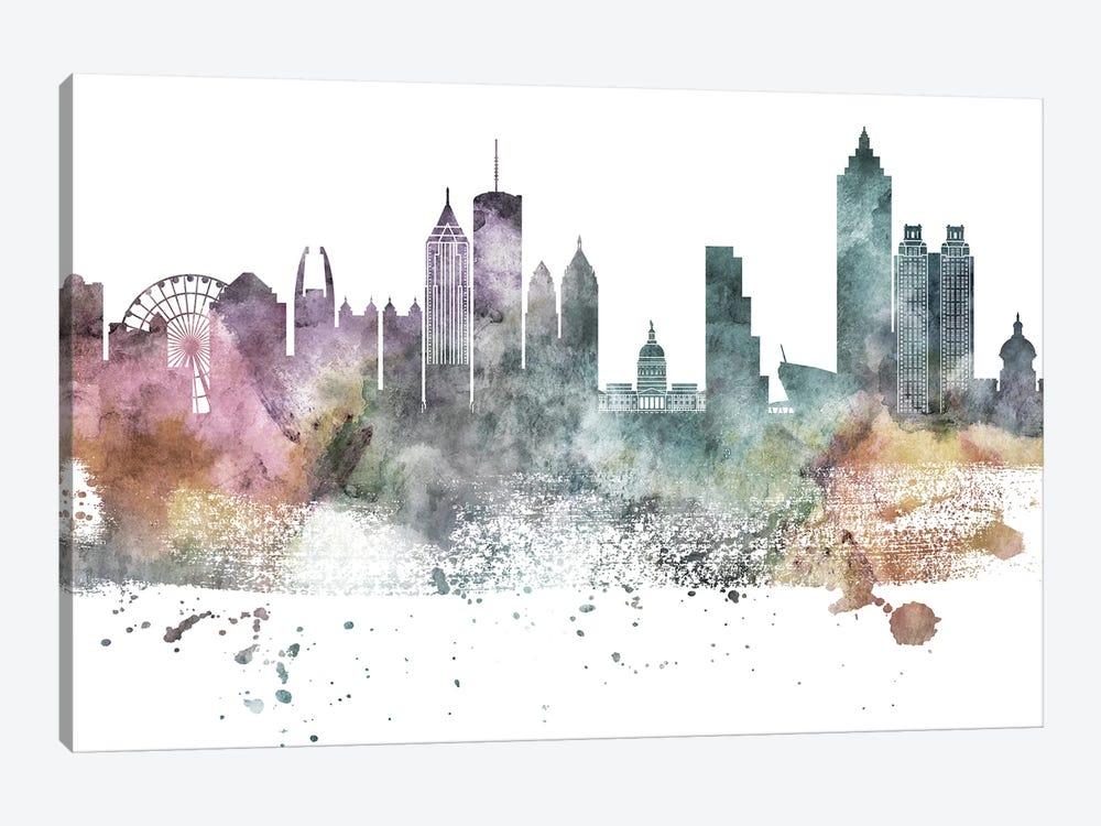 Atlanta Pastel Skylines by WallDecorAddict 1-piece Canvas Art Print