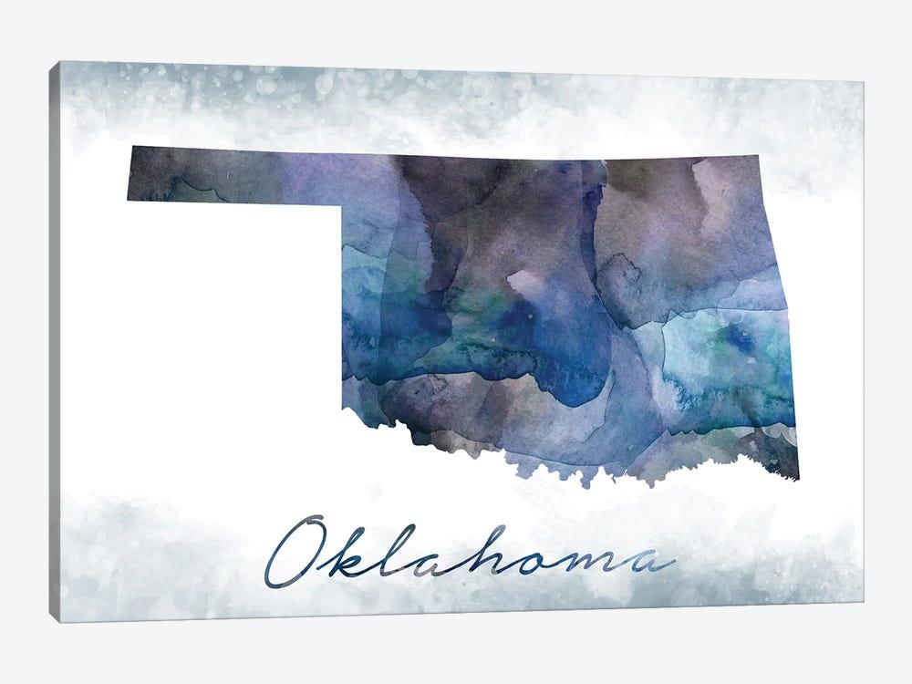 Oklahoma State Bluish by WallDecorAddict 1-piece Canvas Art Print