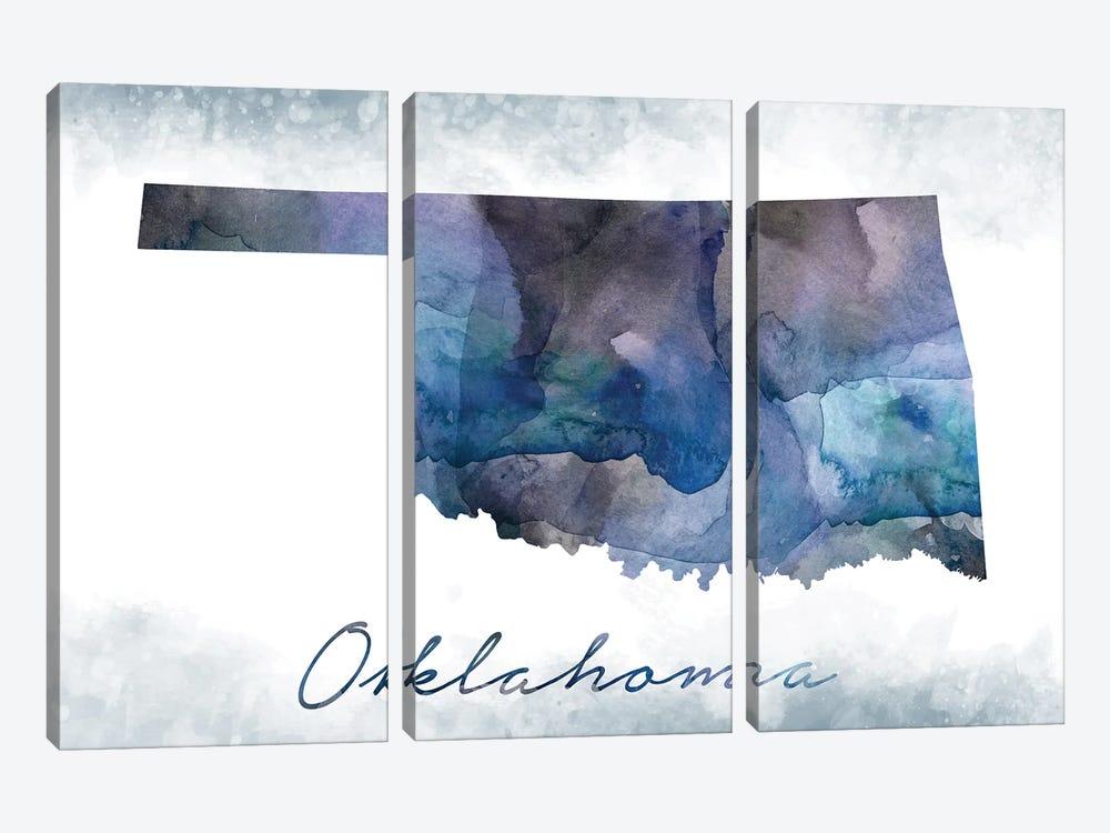 Oklahoma State Bluish by WallDecorAddict 3-piece Art Print