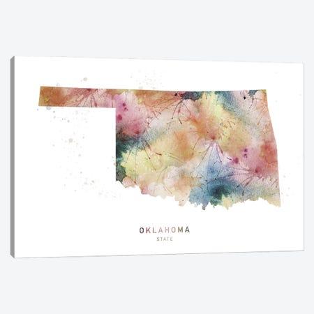 Oklahoma Watercolor State Map Canvas Print #WDA362} by WallDecorAddict Canvas Artwork