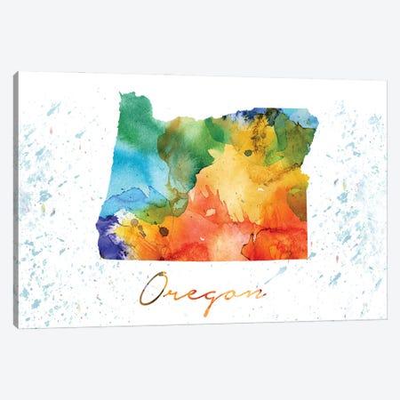 Oregon State Oregon 3-Piece Canvas #WDA366} by WallDecorAddict Canvas Art Print