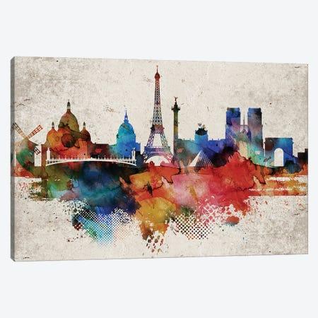 Paris Abstract Canvas Print #WDA369} by WallDecorAddict Canvas Art