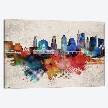 Austin Abstract Canvas Print #WDA36} by WallDecorAddict Canvas Print