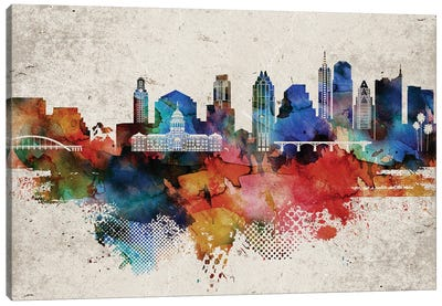Austin Abstract Canvas Art Print