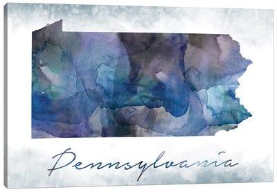 Pennsylvania State Bluish Canvas Art Print