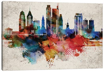 Philadelphia Abstract Canvas Art Print