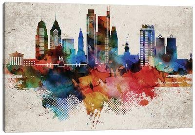 Philadelphia Abstract Canvas Art Print
