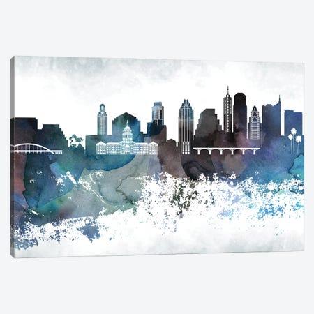 Austin Bluish Skylines Canvas Print #WDA38} by WallDecorAddict Canvas Art