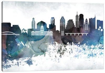Austin Bluish Skylines Canvas Art Print