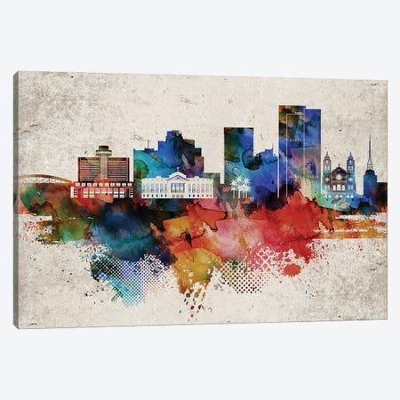 Phoenix Abstract Canvas Print #WDA390} by WallDecorAddict Canvas Art Print
