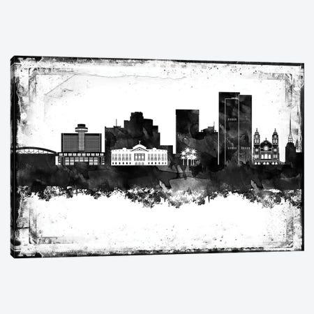 Phoenix Black And White Framed Skylines Canvas Print #WDA391} by WallDecorAddict Art Print
