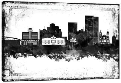 Phoenix Black And White Framed Skylines Canvas Art Print