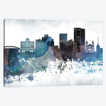 Phoenix Bluish Skylines Canvas Print #WDA392} by WallDecorAddict Art Print