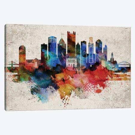 Pittsburgh Abstract Canvas Print #WDA395} by WallDecorAddict Canvas Wall Art