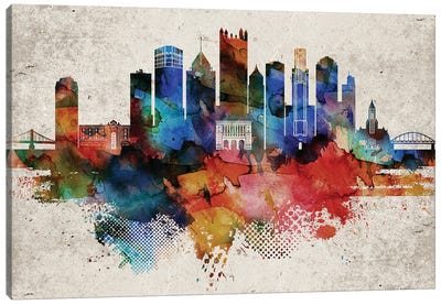 Pittsburgh Abstract Canvas Art Print