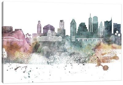 Austin Pastel Skylines Canvas Art Print