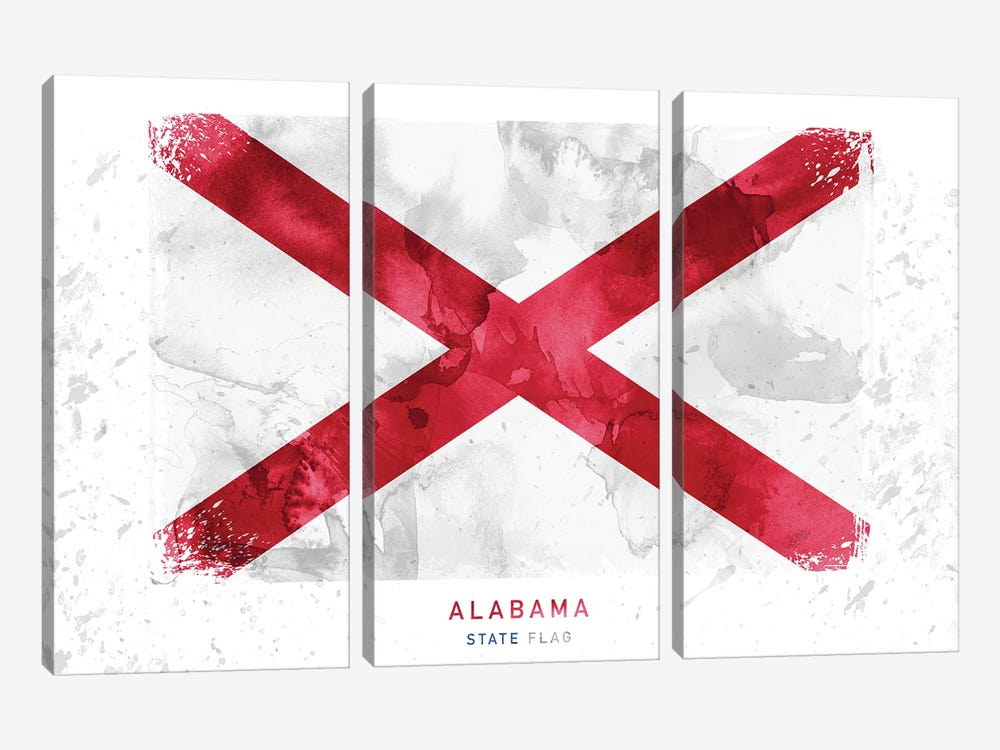 Alabama by WallDecorAddict 3-piece Canvas Wall Art