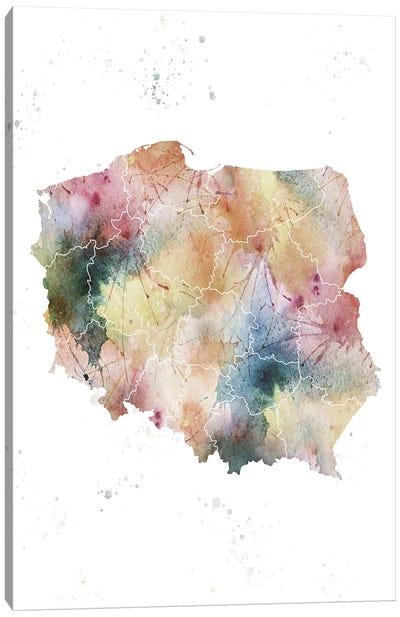 Poland Nature Watercolor Canvas Art Print