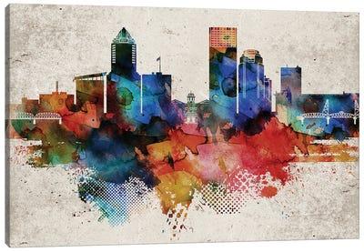 Portland Abstract Canvas Art Print