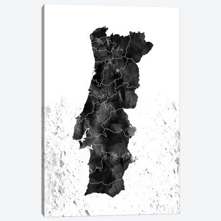 Portugal Black And White Canvas Print #WDA407} by WallDecorAddict Canvas Art