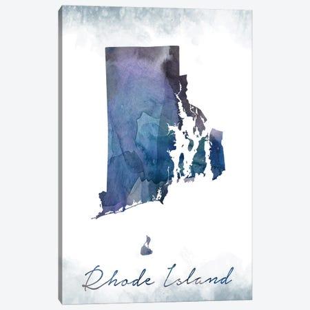 Rhode Island State Bluish Canvas Print #WDA410} by WallDecorAddict Canvas Wall Art