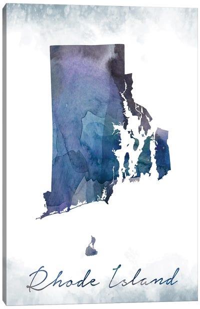 Rhode Island State Bluish Canvas Art Print