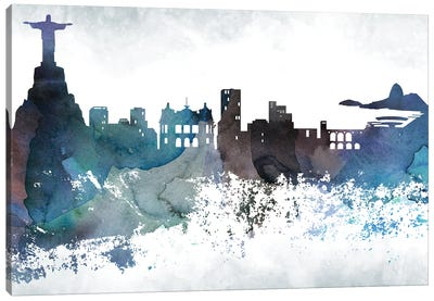 Rio Bluish Skylines Canvas Art Print