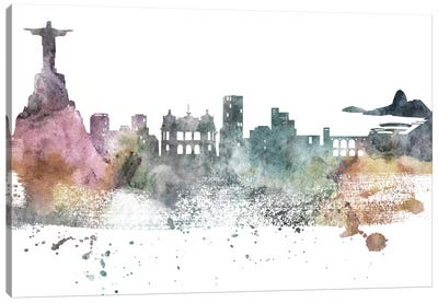 Rio Pastel Skylines Canvas Art Print