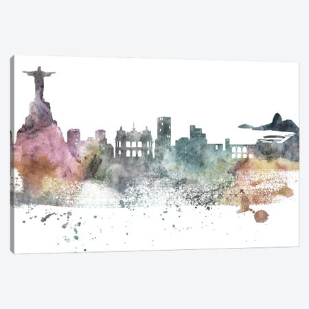 Rio Pastel Skylines Canvas Print #WDA416} by WallDecorAddict Canvas Print