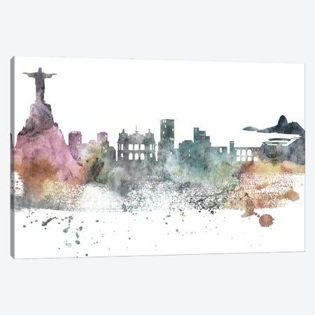 Rio Pastel Skylines Canvas Print #WDA416} by WallDecorAddict Canvas Print