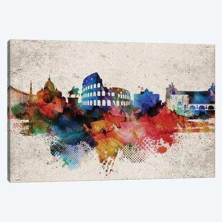 Rome Abstract Canvas Print #WDA417} by WallDecorAddict Canvas Art Print