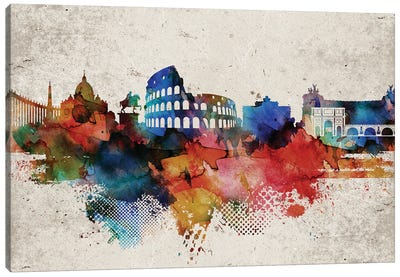 Rome Abstract Canvas Art Print